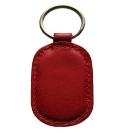 Leather Elliptic Shape Keyfob - NFC Keychain