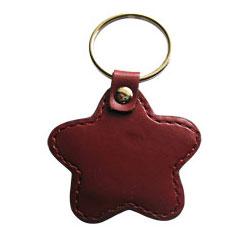 Leather Star Shape Keyfob - Ultralight Keychain